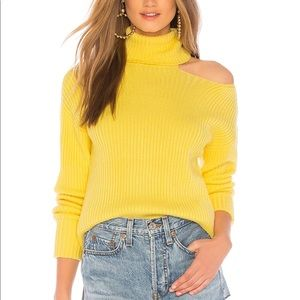 NWT Lovers + Friends Yellow Turtleneck Sweater